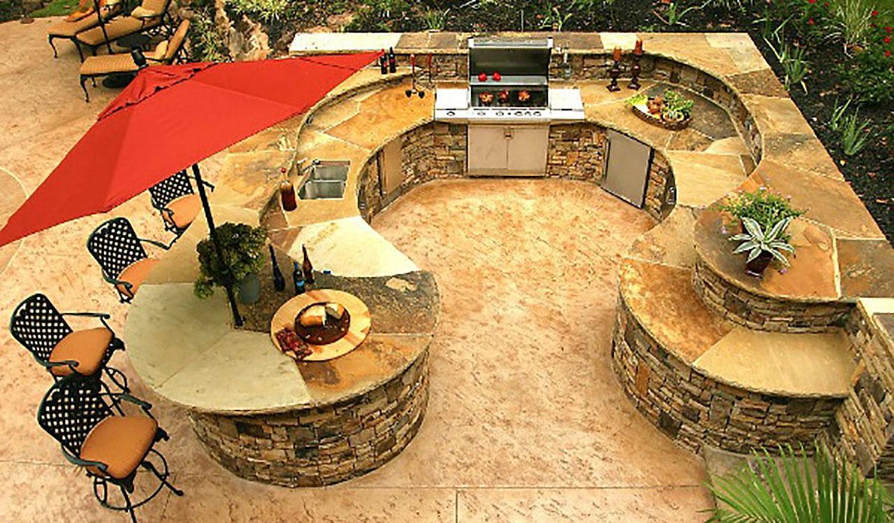 Outdoor Kitchen Planning Outdoor Kitchen Factory - Red stone outdoor kitchen