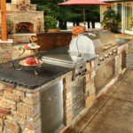 Outdoor Long Island Kitchen Island